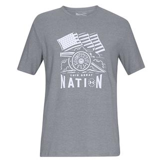Under Armour Freedom Cannon T-Shirt Steel Light Heather / White