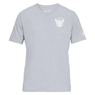 Under Armour Freedom Eagle Arrows T-Shirt Steel Light Heather / White