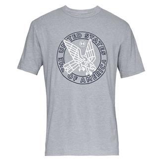 Under Armour Freedom Eagle Strike T-Shirt Steel Light Heather / Academy