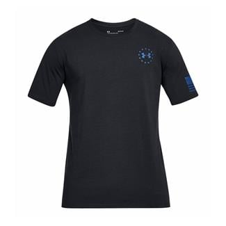 Under Armour Freedom Express Flag T-Shirt Black / Graphite / Royal