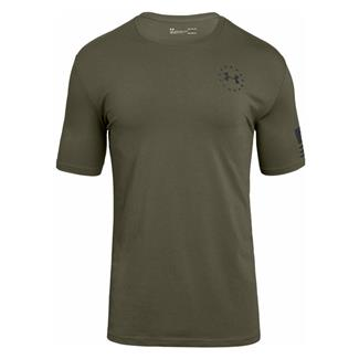 Under Armour Freedom Express Flag T-Shirt Marine OD Green / Black