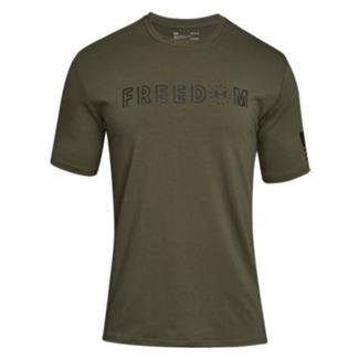Under Armour Freedom Flag Bold T-Shirt Marine OD Green / Black