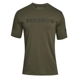 Under Armour Freedom Flag Bold T-Shirt Marine OD Green / Black