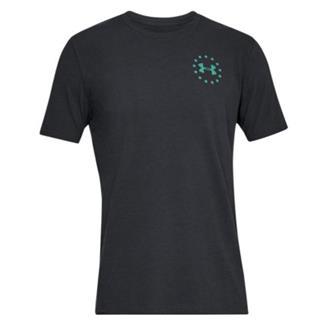 Under Armour Freedom Lady Liberty T-Shirt Black / Green Malachite