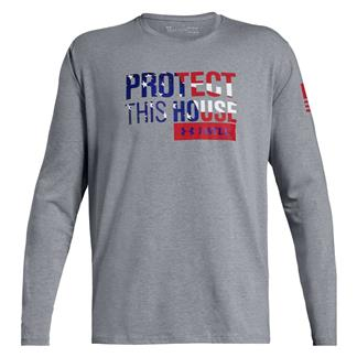 Under Armour Freedom Protect This House Long Sleeve 2.0 Steel Light Heather / Red