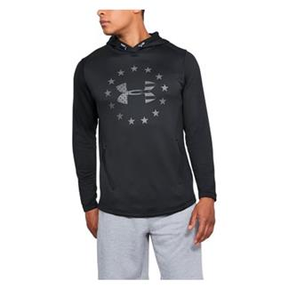 Under Armour Freedom Tech Terry Pull-Over Hoodie Black / Graphite