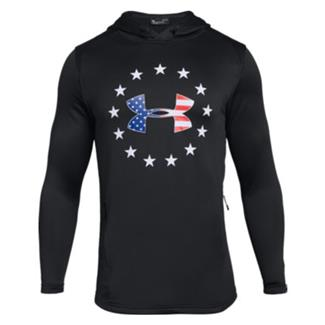 Under Armour Freedom Tech Terry Pull-Over Hoodie Black / White