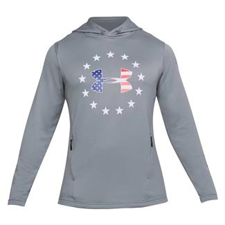 Under Armour Freedom Tech Terry Pull-Over Hoodie Steel / White