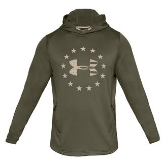 Under Armour Freedom Tech Terry Pull-Over Hoodie Marine OD Green / Desert Sand