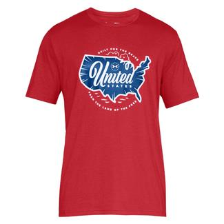 Under Armour Freedom United T-Shirt Red / White