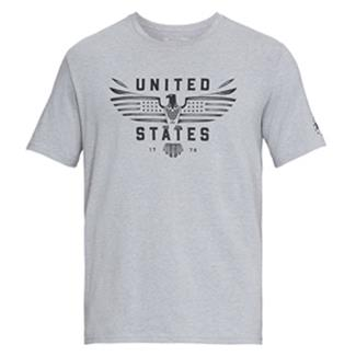 Under Armour Freedom US Eagle T-Shirt Steel Light Heather / Black