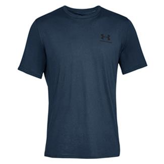Under Armour Sportstyle Left Chest T-Shirt Academy / Black