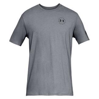 Under Armour Freedom Flag T-Shirt Steel Medium Heather / Black
