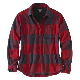 Carhartt Rugged Flex Hamilton Fleece Lined Shirt Dark Crimson