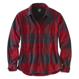Carhartt Rugged Flex Hamilton Fleece Lined Shirt Dark Crimson