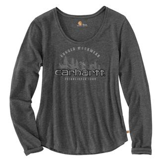 Carhartt Lockhart Graphic Rugged Workwear Long Sleeve T-Shirt Carbon Heather