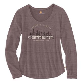 Carhartt Lockhart Graphic Rugged Workwear Long Sleeve T-Shirt Sparrow Heather Nep