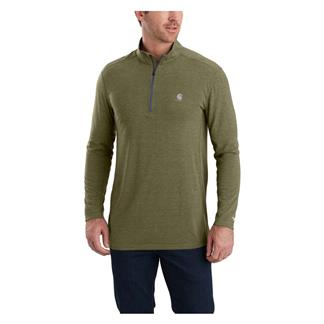 Carhartt Force Extremes Long Sleeve Half-Zip Burnt Olive Heather