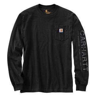 Carhartt Workwear Logo Sleeve Graphic Long Sleeve T-Shirt Black