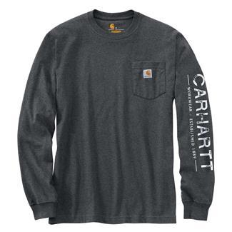 Carhartt Workwear Logo Sleeve Graphic Long Sleeve T-Shirt Granite Heather