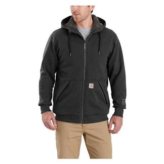 Carhartt Rain Defender Rockland Sherpa Lined Hooded Sweatshirt Carbon Heather