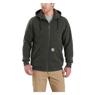 Carhartt Rain Defender Rockland Sherpa Lined Hooded Sweatshirt Peat