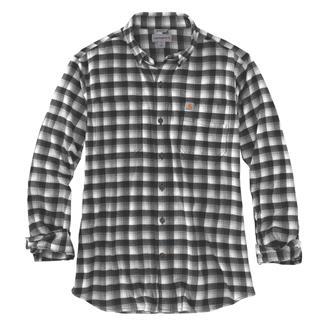 Carhartt Rugged Flex Hamilton Button Plaid Shirt Black