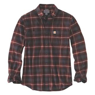 Carhartt Rugged Flex Hamilton Button Plaid Shirt Fired Brick