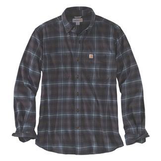 Carhartt Rugged Flex Hamilton Button Plaid Shirt Dark Slate