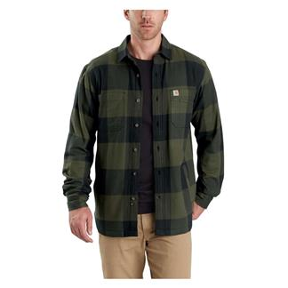 Carhartt Rugged Flex Hamilton Fleece Lined Shirt Olive