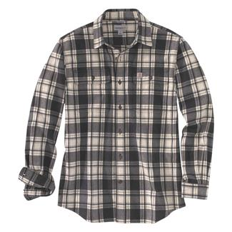 Carhartt Hubbard Plaid Shirt Black Heather