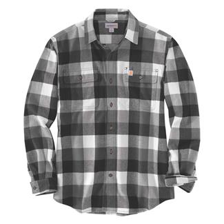 Carhartt Hubbard Plaid Shirt Gravel