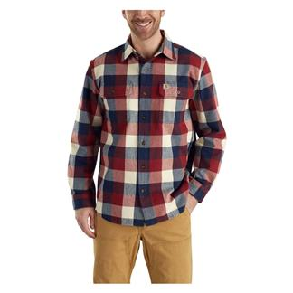 Carhartt Hubbard Plaid Shirt Navy