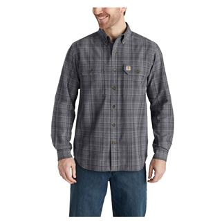 Carhartt Fort Plaid Long Sleeve Shirt Shadow