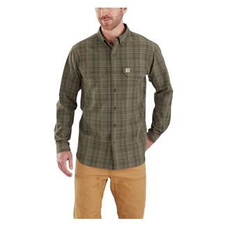 Carhartt Fort Plaid Long Sleeve Shirt Burnt Olive