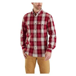 Carhartt Fort Plaid Long Sleeve Shirt Dark Crimson