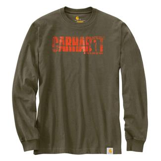 Carhartt Workwear Hunting Graphic Long Sleeve T-Shirt Army Green