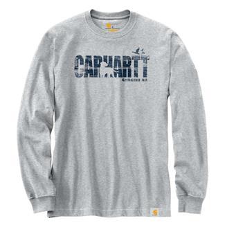 Carhartt Workwear Dog Graphic Long Sleeve T-Shirt Heather Gray