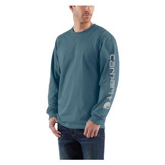 Carhartt Long Sleeve Logo T-Shirt Steel Blue