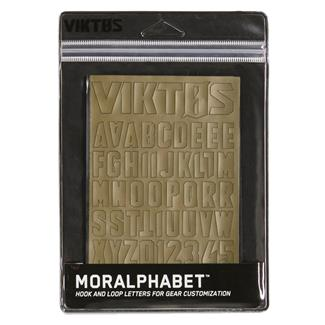 Viktos Moralphabet Hook and Loop Letters Coyote