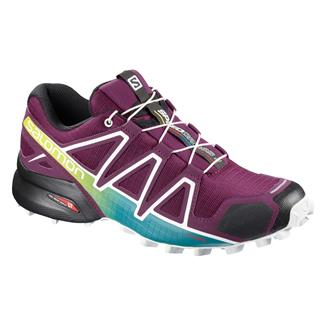 Salomon Speedcross 4 Dark Purple /  White /  Deep Lake