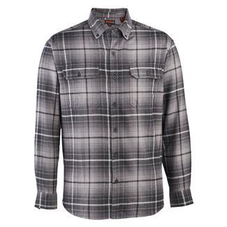 Wolverine Escape Long Sleeve Flannel Shirt Dark Gray Plaid