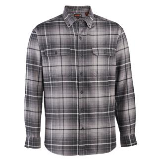 Wolverine Escape Long Sleeve Flannel Shirt Dark Gray Plaid