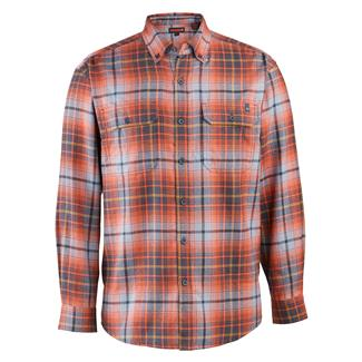 Wolverine Escape Long Sleeve Flannel Shirt Dark Navy Plaid