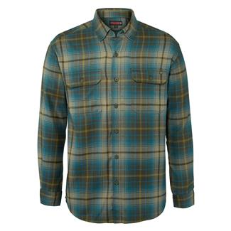 Wolverine Escape Long Sleeve Flannel Shirt Legion Blue Plaid