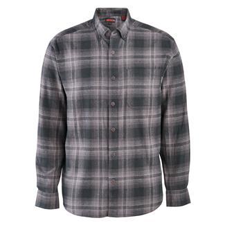Wolverine Hammond Long Sleeve Flannel Shirt Dark Gray Plaid