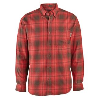 Wolverine Hammond Long Sleeve Flannel Shirt Dark Red Plaid