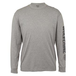 Wolverine Long Sleeve Graphic Solid Sleeve Logo T-Shirt Ash Heather