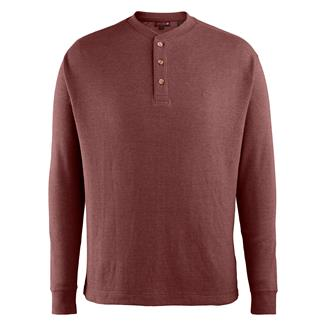 Wolverine Walden Long Sleeve Henley Oxblood Heather