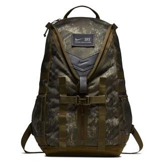 NIKE Printed SFS Recruit Training Backpack Olive Canvas / Black